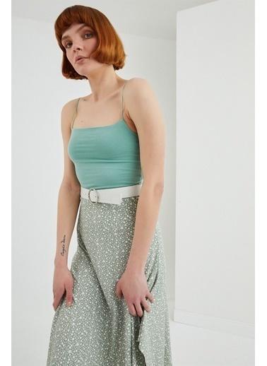 Z Giyim İp Askılı Pamuklu Büstiyer Yeşil